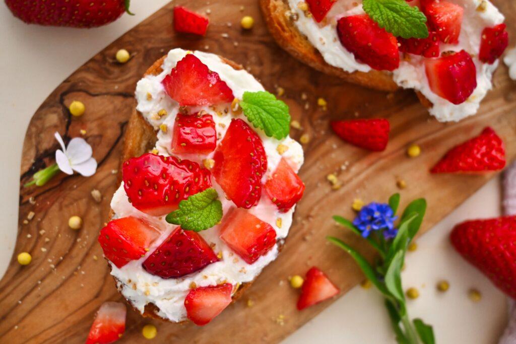 Erdbeerbruschetta