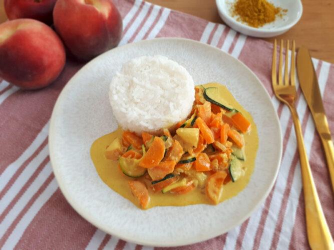 Gemüsecurry mit Pfirsich