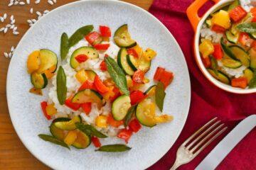 Risotto mit Zucchini und Paprika