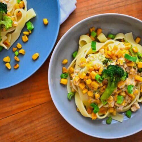 Nudeln mit Mais