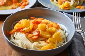 Orangensoße zu Pasta
