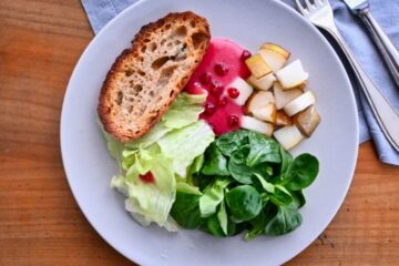 Salat mit Birne